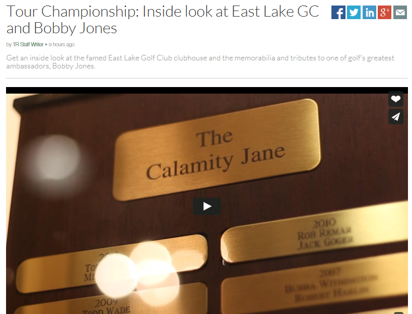TOUR Championship: Inside look at East Lake GC and Bobby ...