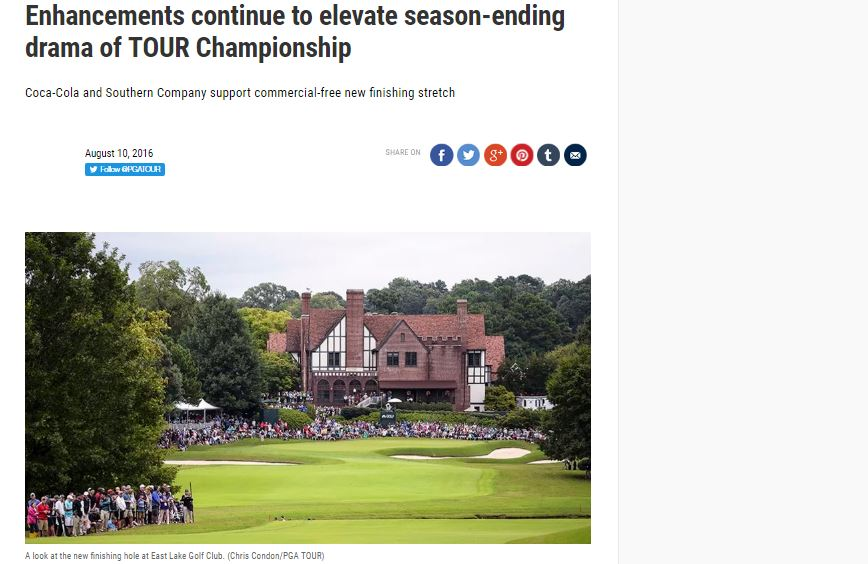 TOUR Championship Announces Exciting Enhancements to Tournament