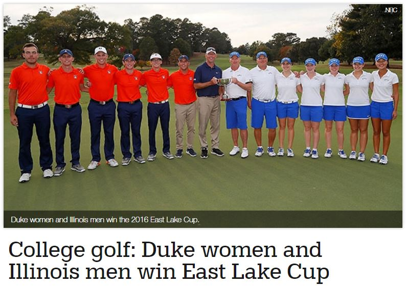 Duke Women and Illinois Men Win East Lake Cup